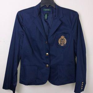 Ralph Lauren Patch Insignia Gold Button Blazer XL